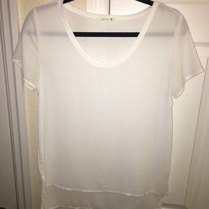 Soprano U-neck polyester blouse